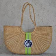 Monogrammed Over The Shoulder Florida Basket Large 14 By 17 By 5 Inches