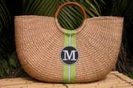 "Monogrammed Xlarge Shorty Florida Basket  22"" X 17""X 5"""