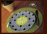 Clairebella Monogrammed Plates   So Many Fun Patterns