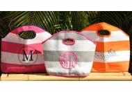 Monogrammed Sandy Neck Florida Bag Three Size Totes