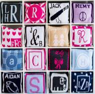 Monogrammed Hand Knit  Pillows