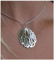 Monogrammed Pendant On Center Bale From The Pink Monogram