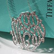Monogrammed Pendant Set With CZ For A Diamond Look Without The Price.