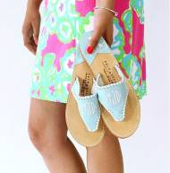 Palm Beach  Classic Monogrammed Sandal  