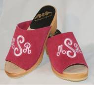 The Pink Monogram Peep Toe  High Heel Leather, Fur Or Our New Felted Wool