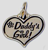 Silver Plated Charm - Daddy's Girl