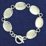 Mother's Oval Disc Bracelet With Up To 6 Names