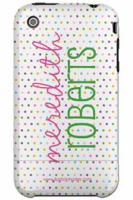 Personalized Iphone Case Vertical Party Dot Pattern