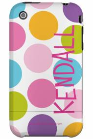 Personalized Iphone Case Vertical Large Multi Dot Pattern