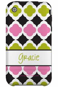 Personalized Iphone Case Preppy Tile Pattern