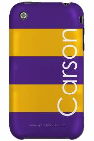 Personalized Iphone Case LSU Stripe Vertical