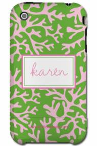 Personalized Iphone Case Preppy Coral Pattern