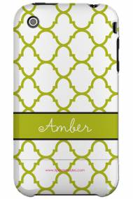 Personalized Iphone Case Lime Moroccan Pattern