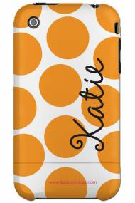 Personalized Iphone Case Tennessee Polka Dot Vertical