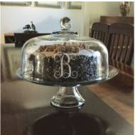 Personalized Pedestal Cake And Punch Bowl