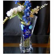 "Personalized 10"" Crystal Flared Vase Perfect Wedding Gift"