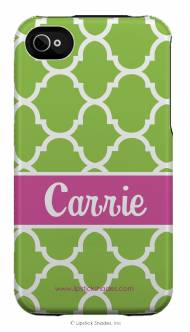 Personalized Iphone Case Green Moroccan Pattern