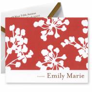Embossed Graphics Personalized Stationery Cherry Blossom Note Style
