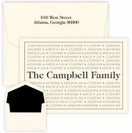 Embossed Graphics Personalized Stationery Anthony Family Pride Note Style