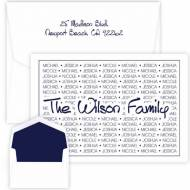 Embossed Graphics Personalized Stationery Tiffany Family Pride Note Style