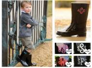 Childrens Monogrammed Rainboots! Sale Reduced
