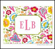 Bright Floral Monogrammed Foldover Notes