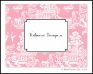 Chinoiserie Pink Personalized Foldover Notes