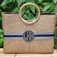 Monogrammed Large Becky Basket From Queen Bea