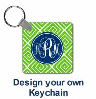 Monogrammed Keychains Design Your Own!