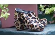Leopard Or Zebra  Cow Fur Monogrammed  Clogs With Matching Painted Heels