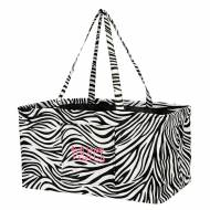 Monogrammed Zebra Print Ultimate Carry All
