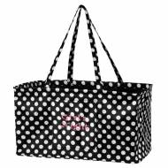 Discontinued - Monogrammed Black And White Dot Ultimate Carry All