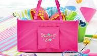 Monogrammed Hot Pink Ultimate Carry All