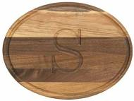 "Personalized 9x12"" Oval Walnut Cutting Board"
