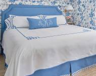 Jane Wilner Monogrammed Bed Linens