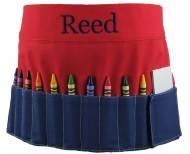 Monogrammed Red And Blue Crayon Toolbelt
