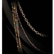 Gold Luxe Multistrand Multistone Necklace