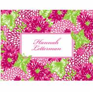 Lilly Pulitzer Foldover Note With Name White Zin