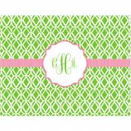 Lilly Pulitzer Foldover Note Bamboo Green