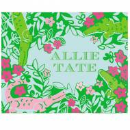 Lilly Pulitzer Foldover Note Later Gator