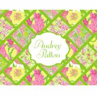 Lilly Pulitzer Foldover Note Bamboo Patch