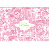 Lilly Pulitzer Foldover Note Fresh Catch Toile