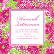 Personalized Lilly Pulitzer Stickers White Zin