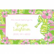 Lilly Pulitzer Personalized Stickers Floaters