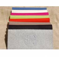 Monogrammed Felt Clutch Bag So Many Colors!