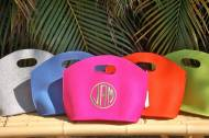 Monogrammed Felt Gigi Bag Matches Our Monogrammed Clogs