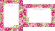 Lilly Pulitzer Personalized Correspondence Cards White Zin