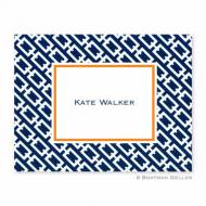 Chain Link Navy Foldover Note