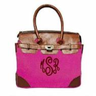 Monogrammed Small Riviera Scotch Grain Bag In 4 Great Colors
