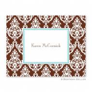 Madison Damask Chocolate Foldover Note